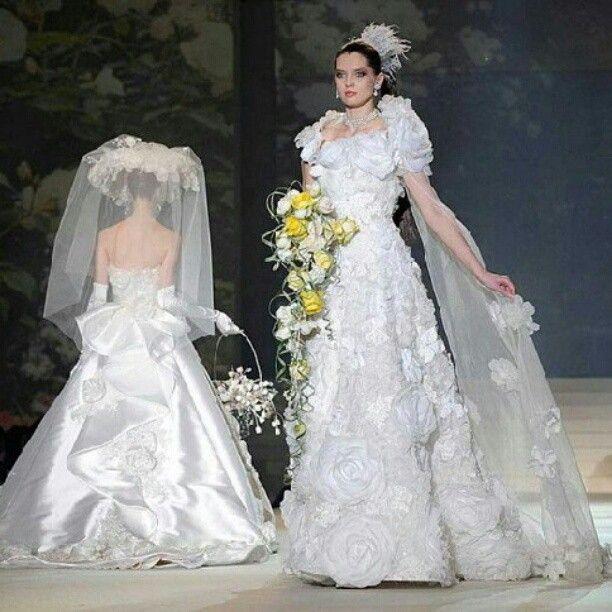 Yumi Katsura White Gold Dress