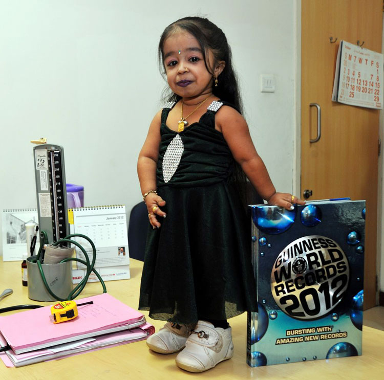 shortest People, Smallest women in the world