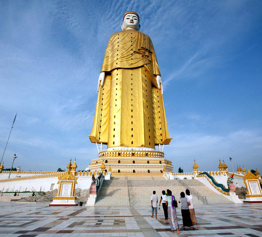 Top 10 Most Tallest Statues In The World, Laykyun Setkyar is at no 2