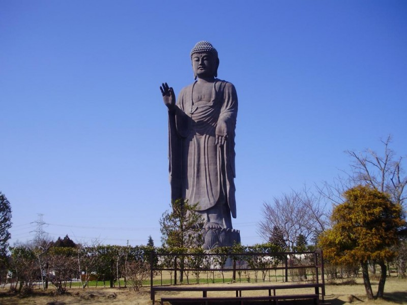 Top 10 Most Tallest Statues In The World, Ushiku Daibutsu is at no 3